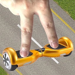 Hoverboard on Street with 2 finger multitouch