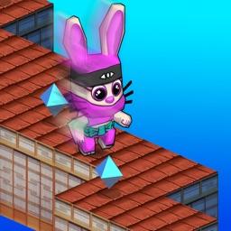 Bunny Rabbit Ninja Jumping Run 3D - Endless animal run