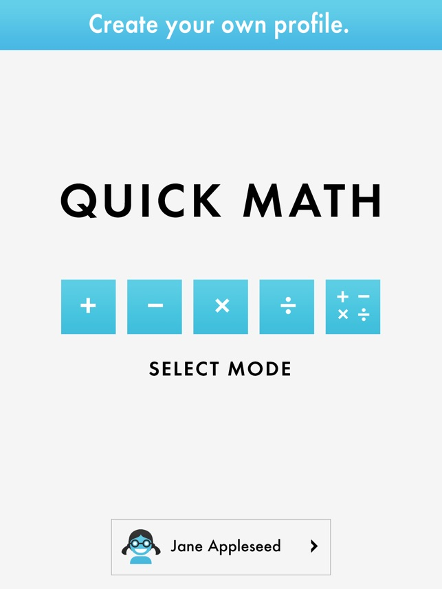 Quick Math - Mental Arithmetic on the App Store