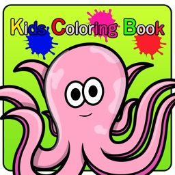 Painting Kids Games : aquatic animals Free!!