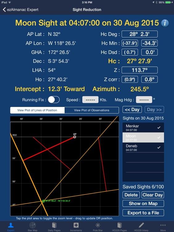 ezAlmanac Celestial Navigation screenshot-3