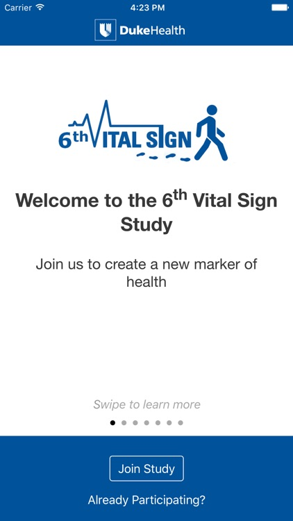 6th Vital Sign - A mobile study of walking speed as a measure of health