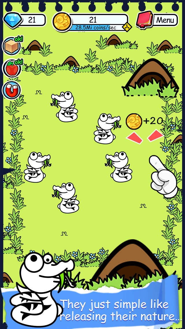 Snake Evolution - Tap Coins of the Mutant Tapper Clicker Game by Mr. sLItHeR Screenshot