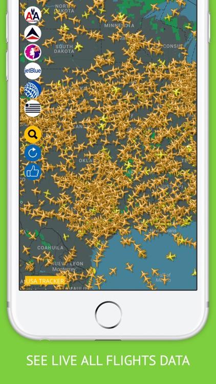 USA Flights Free : Alaska, American, Delta Flight Tracker & Air Radar