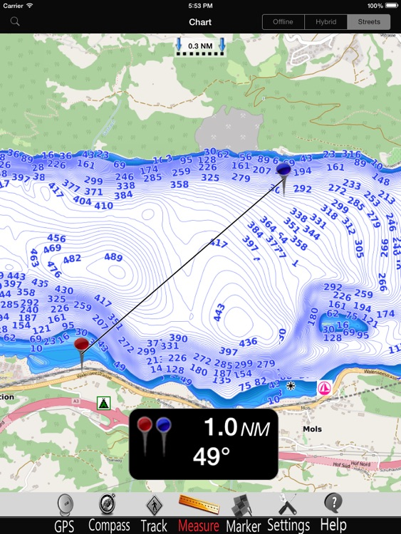 Walen lake Nautical Charts Pro screenshot-3