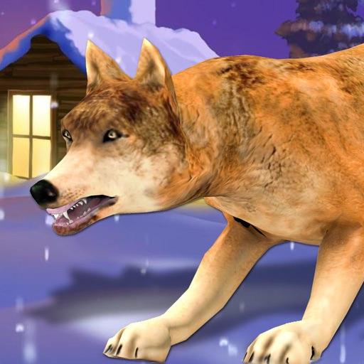 Волк Simulator 3D - Месть Дикого зверя и животные Охота Атака игру в зимний снег фермы
