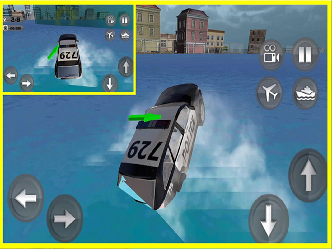 Floating Police Car Flying Cars Futuristic Flight Simulator Pro
