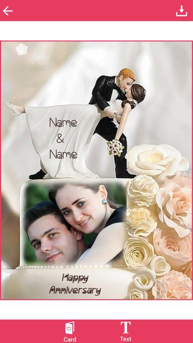 Name and Photo on Anniversary Cake screenshot two
