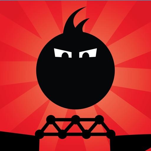 Fat Dots Bridge Builder - Two Dots on The Dangerous Journey