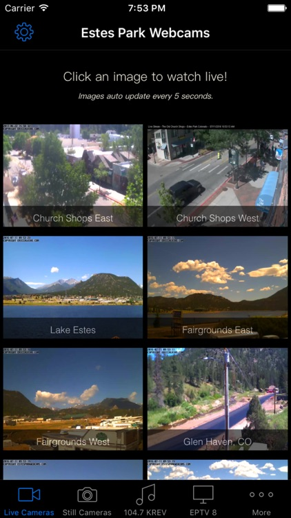 Estes Park Webcams for iPhone