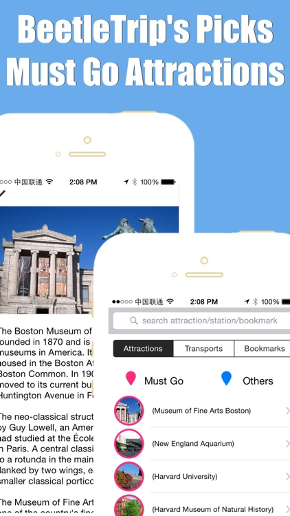Boston travel guide with offline map and Massachusetts mbta subway transit by BeetleTrip screenshot-4