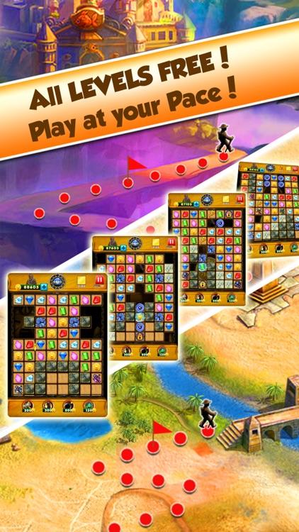 Super Jewel Mania 3 : Egypt Quest Match 3 Game screenshot-4