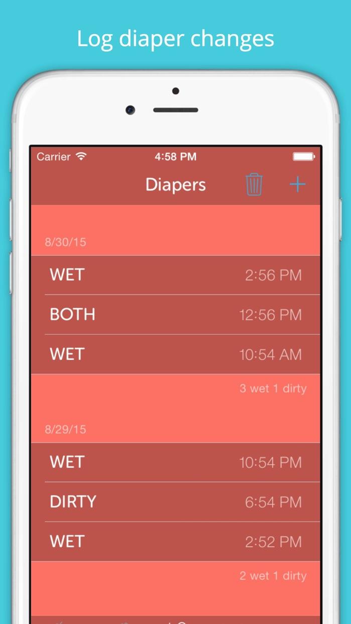 Baby Feeding Log - Newborn Breastfeeding, Bottle and Nursing Tracker with Timer Screenshot