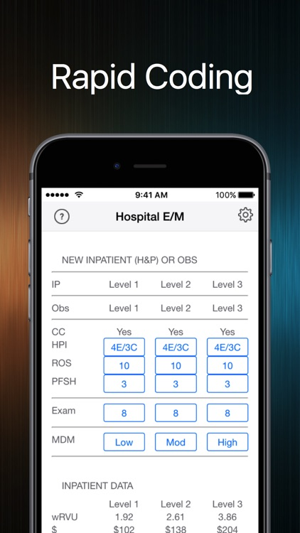 Hospital Medical Coding - RVU,HCPCS,and CPT codes screenshot-0