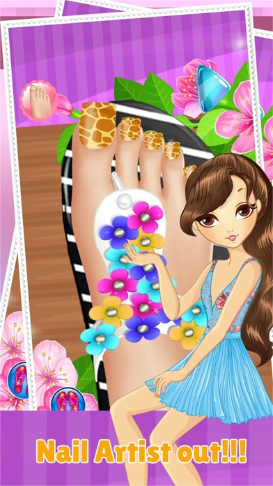 Toe Nail Spa Salon Beautiful Princess Girls Makeover And Games