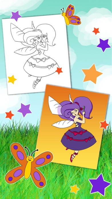 Paint fairies for girls from 3 to 6 years