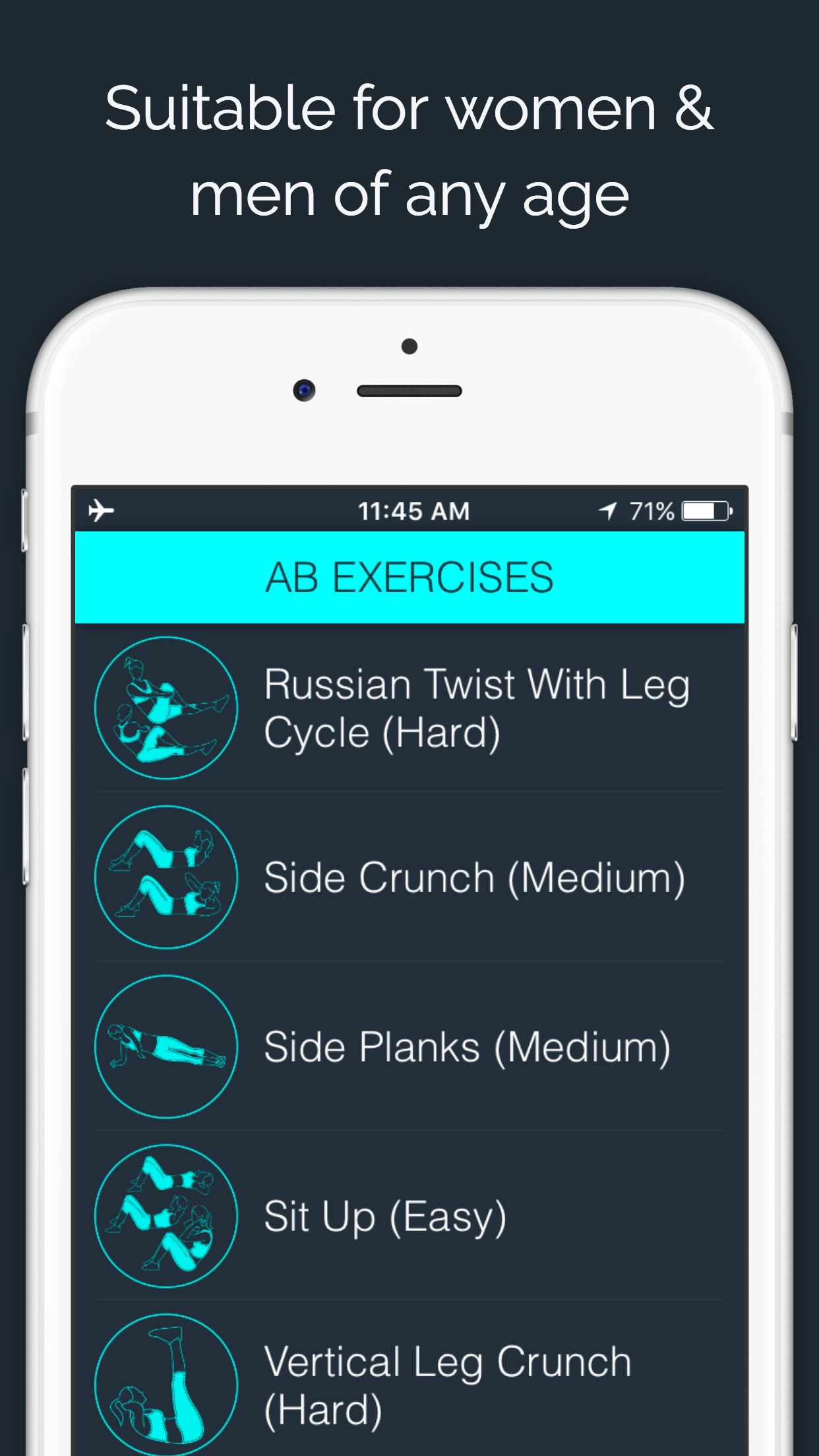 30 Day Ab Challenge by 30 Day Fit Body Screenshot