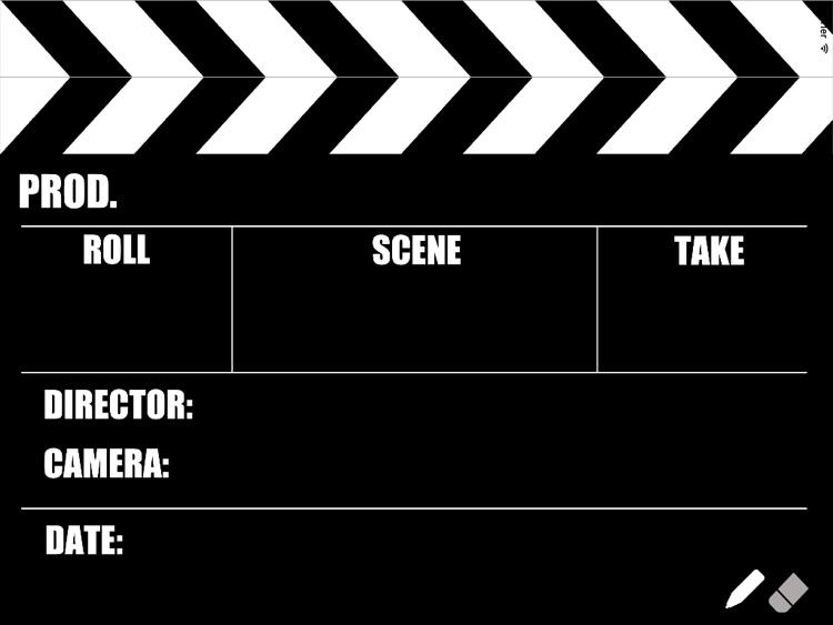 Writable Film Slate (Clapperboard)