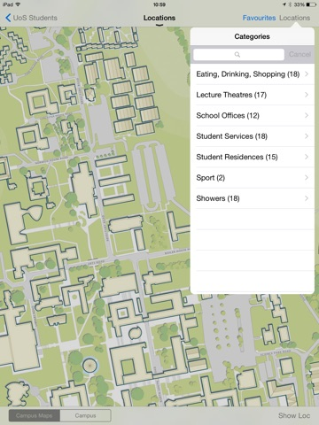University of Sussex – SussexMobile Application-ipad-1