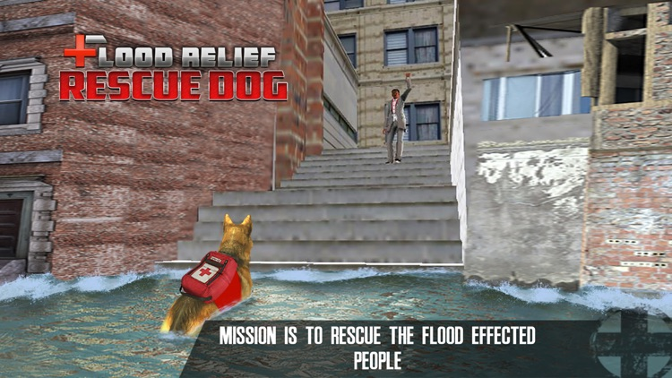 Flood Relief Rescue Dog : Save stuck people lives