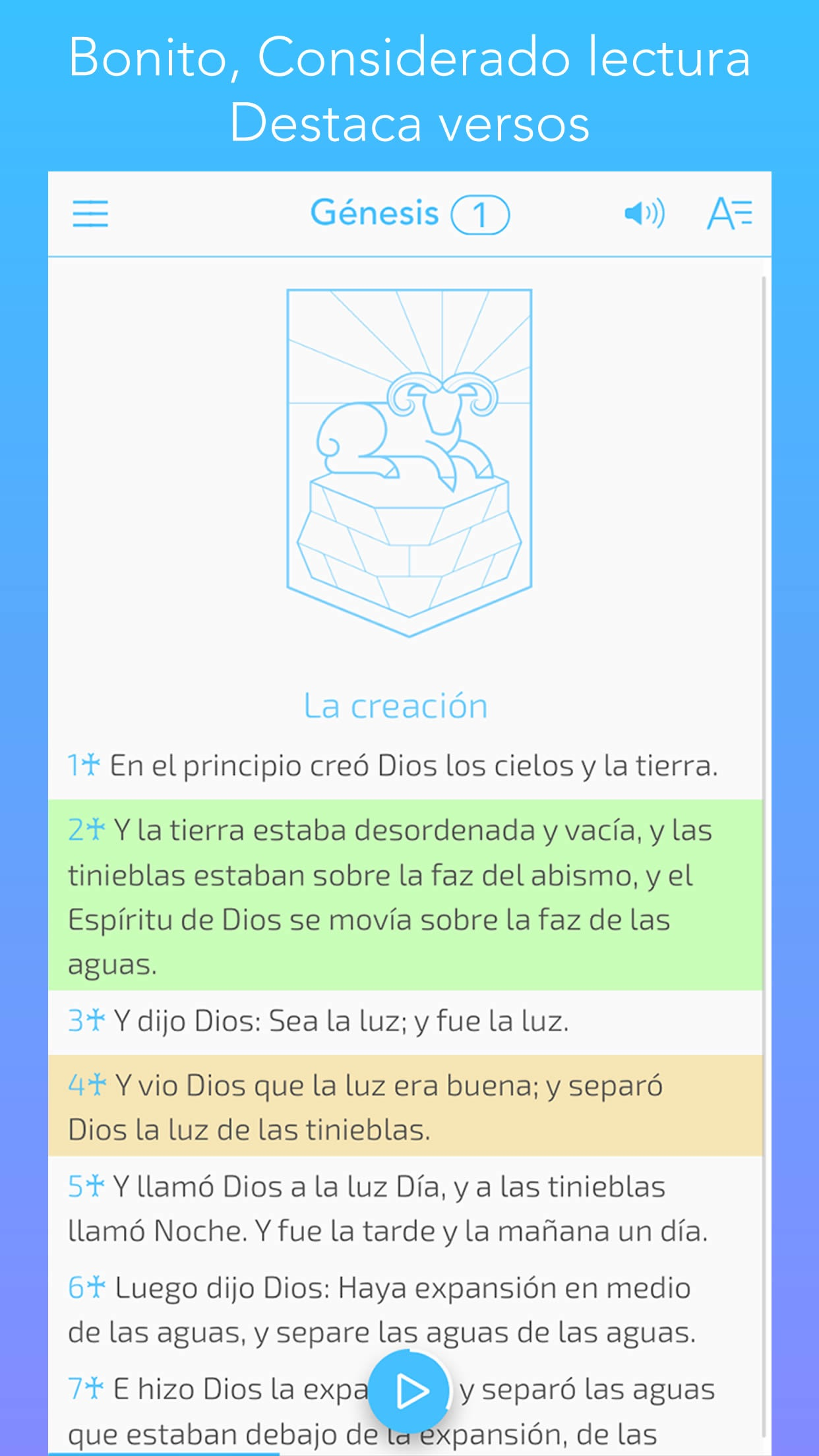 la Biblia Reina Valera 1960 español Spanish bible Screenshot