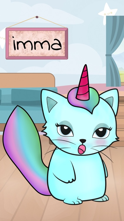 Kittycorn Virtual Pet – New animal friend for kids to take care and play screenshot-3