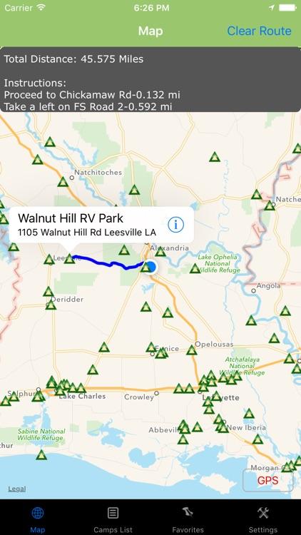 Louisiana – Camping & RV spots