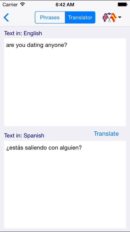 English-Spanish Love & Sex Translator (Offline) screenshot-3