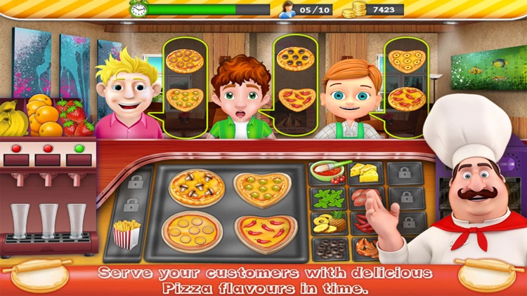 Kitchen Fever Pizza Chef - Time Management Cooking Game