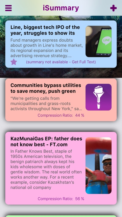 iSummary: Summarize News Articles, Scans and more!