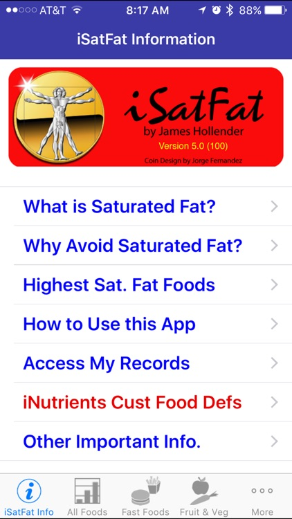 iSatFat - iNutrient: Saturated Fat screenshot-0