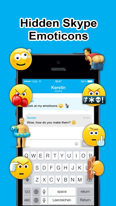 Secret Smileys For Skype review screenshots