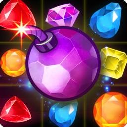 Jewel Paradise Mania. My Diamond Rush Story In Match 3 Classic Puzzle