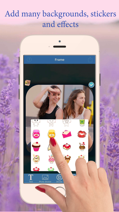 InstaPhoto Frames Maker - Summer photo joiner, pictures collage editor free screenshot two