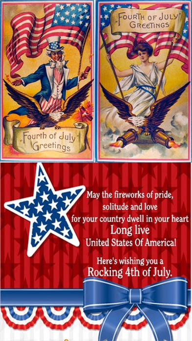 Happy 4th Of July Independence Day Usa Greetings Cards Patriotic