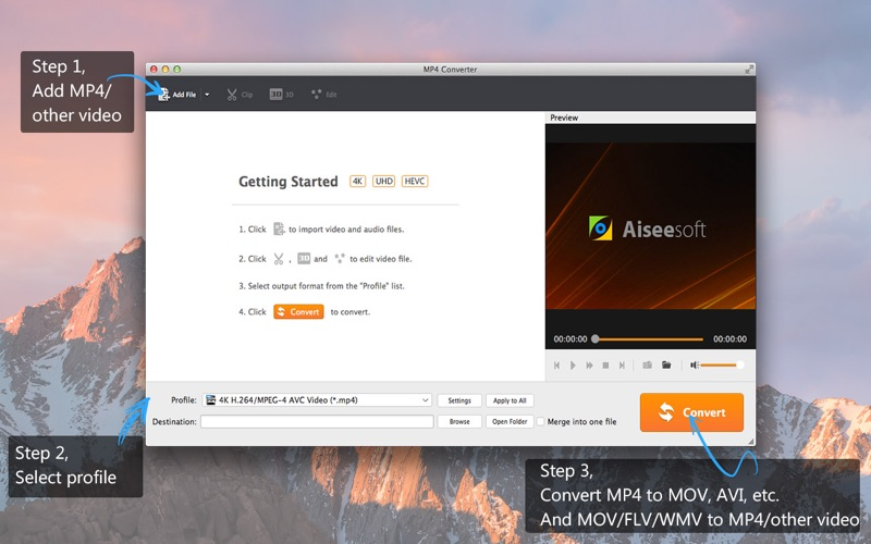 Screenshot MP4 Converter- Video to MP4