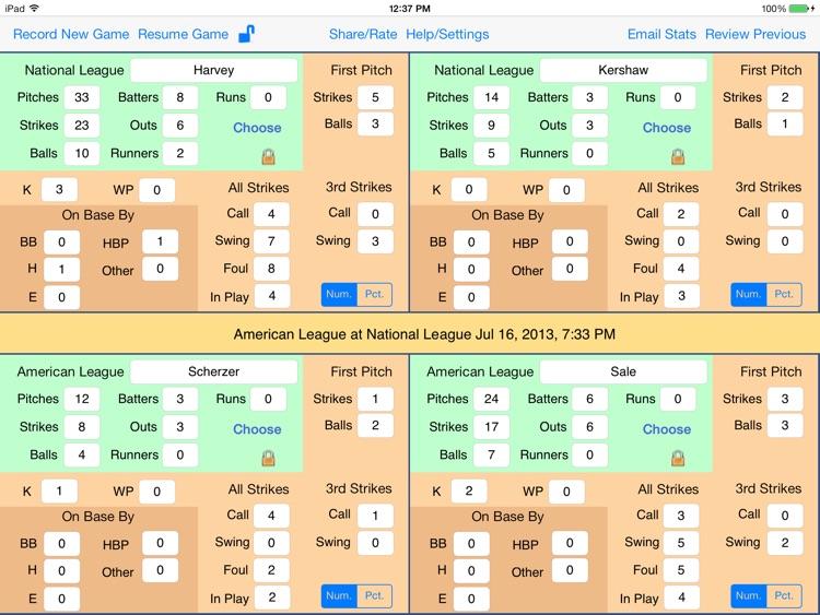 OnScreen Baseball & Softball Pitch Counter for iPad