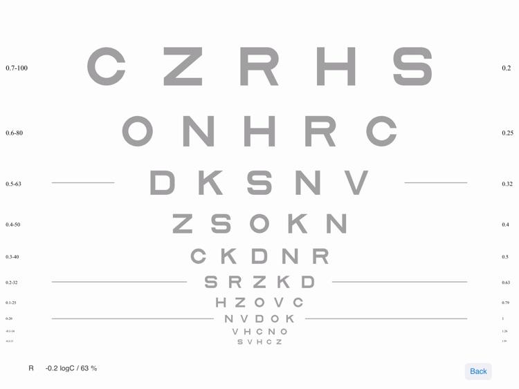 VisionC (Visual Acuity & Contrast Sensitivity Chart) screenshot-3