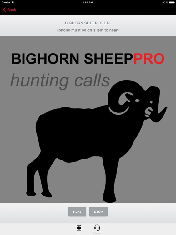 REAL Bighorn Sheep Hunting Calls - 8 Bighorn Sheep CALLS & Bighorn Sheep Sounds! -- (ad free) BLUETOOTH COMPATIBLE screenshot-0