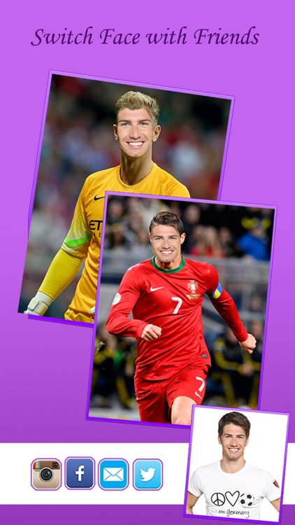 Face Replace for EURO 2016 - Morph or Switch Face with Star Player & Be a Soccer Hero screenshot-4
