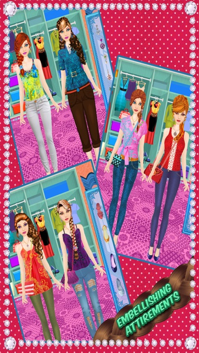 School Girls Hair Style - magic face makeover, changer  & hair style booth screenshot two