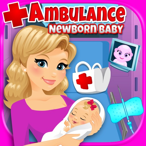 Ambulance Newborn Baby & Mommy - Kids Emergency Pregnancy Labor & Delivery Games