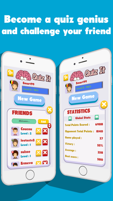 Download Quiz It 2016 - Brain your friends! Challenge quizz for Pc