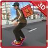 滑板比萨外卖 - 高速电路板骑行和比萨男孩模拟器游戏