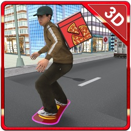 Skateboard Pizza Delivery – Speed board riding & pizza boy simulator game