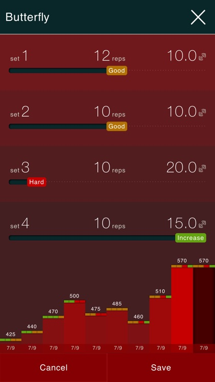 Gymap - free visual workout log & interval timer