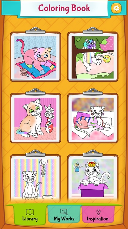 Kitty Cat Coloring Pages screenshot-4