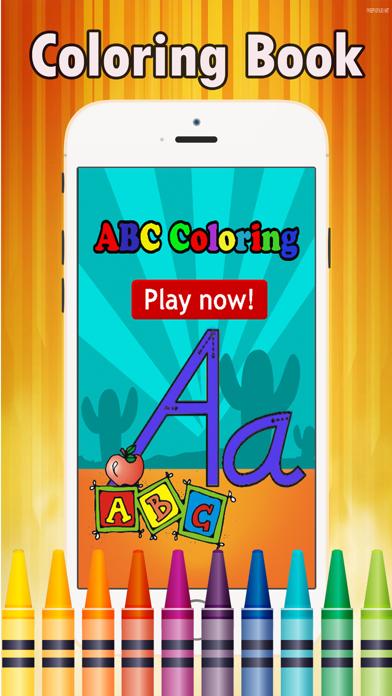 点击获取Preschool Easy Coloring Book - tracing abc coloring pages learning games free for kids and toddlers any age