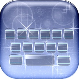 Glass Keyboard Maker – Custom Language Keyboard Themes with Fancy Fonts and Color Backgrounds