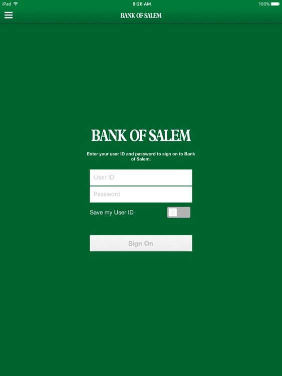 Bank of Salem for iPad screenshot-0